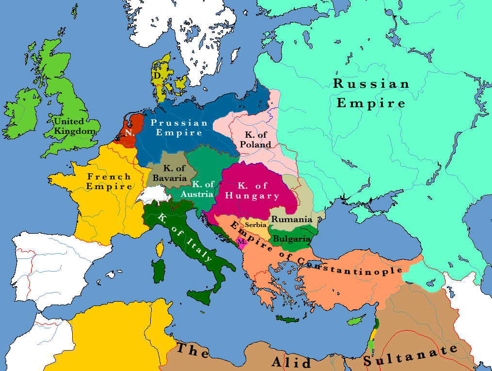 Alternative history map of europe and surrounds c1885 alternate history europe in 1884 gumiabroncs Image collections
